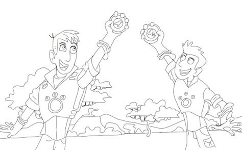 printable wild kratts coloring pages 4 coloring pages