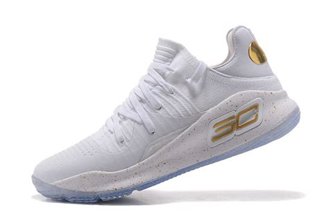2017 armour curry 4 low top white gold shoes for