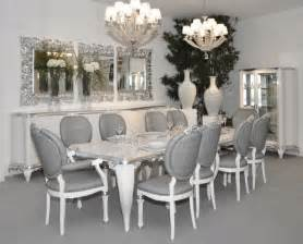 Silver Armchair Glossy White And Silver Leaf Dining Armchair With