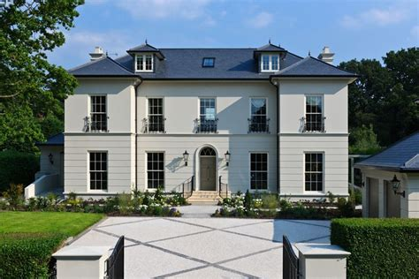 House Exterior Design Surrey by Classic House In Surrey Rendered Walls Roof House