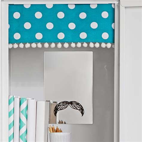 locker curtains teal dottie pom pom locker curtains pbteen