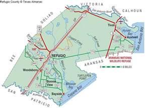 map of refugio refugio county the handbook of state