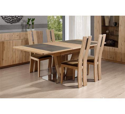 Table Pied Central Carre Ou Rectangulaire En Chene Et Ceramique Forest