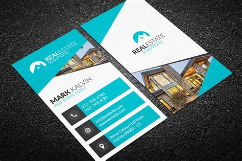 real estate business card design templates 35 marketing business card templates free designs