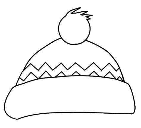 Sunhat Coloring Pages Winter Hat Coloring Page