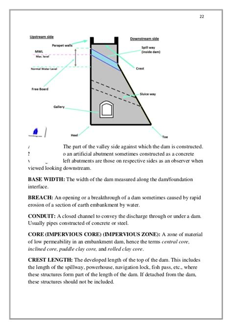 layout anchor gravity design of concrete gravity dam project b e final