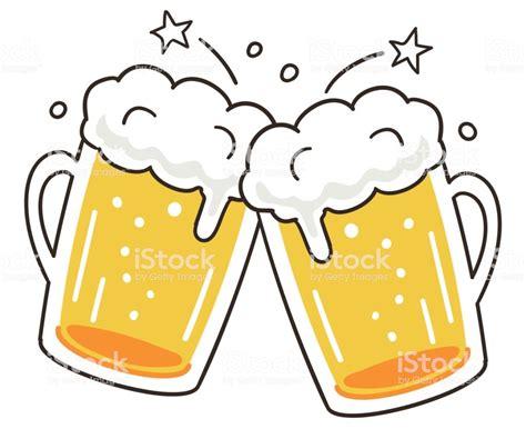 cartoon beer cheers cheers beer stock vector art 696924400 istock