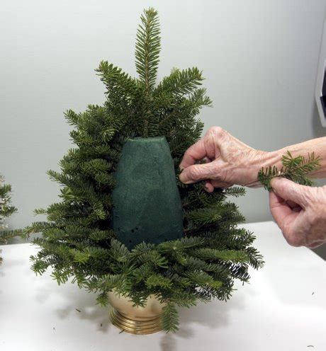 fresh cut tabletop tree diy table top tree made from fresh evergreen clippings 2015 tree