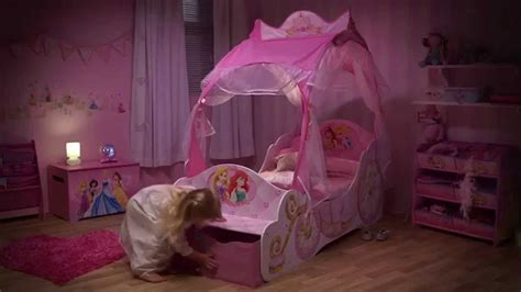 cinderella toddler bed disney princess carriage toddler bed with storage opener youtube