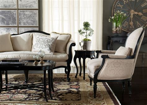 Living Room Furniture Ethan Allen Classic Living Room With Ethan Allen Ziegler Rug Espresso