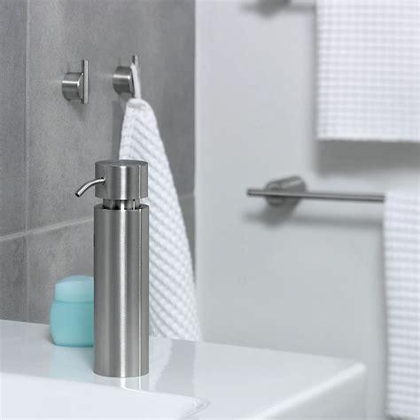 Modern Bathroom Hooks Bathroom Accessories Blomus Duo Towel Wall Hook Brushed Set Of 2 Nova68