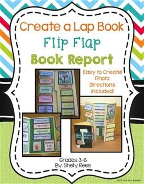 flip book report book report flip flap book traditional student