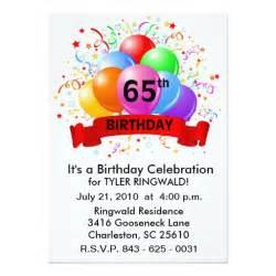 2 000 65th birthday invitations 65th birthday announcements invites zazzle