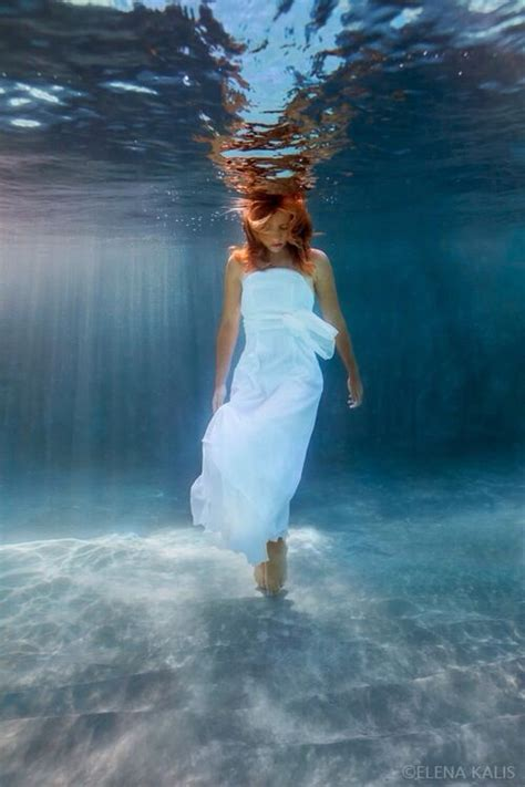 5 Things White And Beautiful 2 by Wearing White Dress Standing Underwater