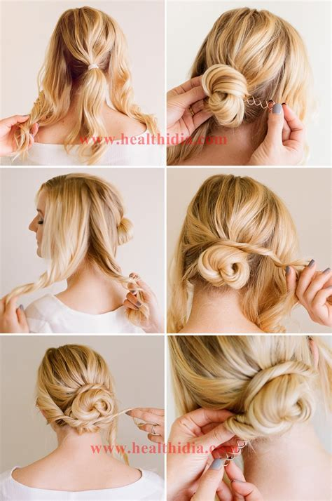 easy updo hairstyle tutorial for bellativity school hair styles