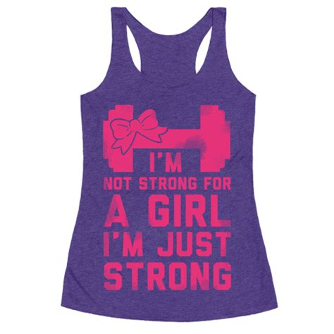 ispirato design purple not just for a girls bedroom i m not strong for a girl i m just strong racerback