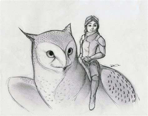 more owl griffin by robthedoodler on deviantart