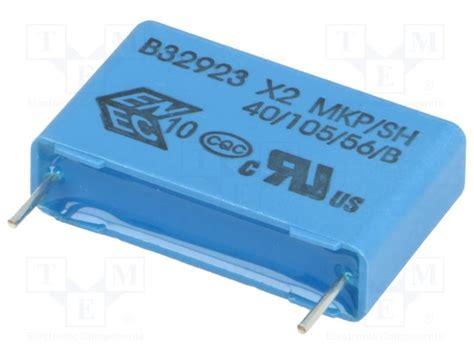 epcos polypropylene capacitors b32923d3334k epcos capacitor polypropylene tme electronic components