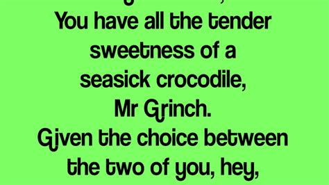 lyrics mr you re a one mr grinch si robertson lyrics