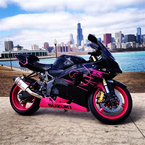 fresh black  pink motorcycle suzuki gsx