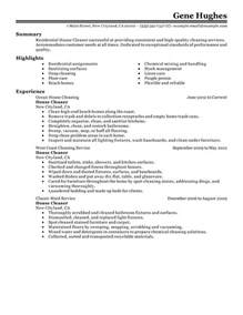 unforgettable residential house cleaner resume examples to