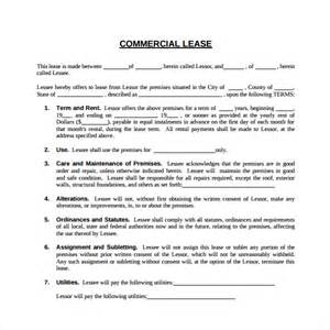 Commercial Tenancy Agreement Template Free by Sle Commercial Lease Agreement 6 Free Documents