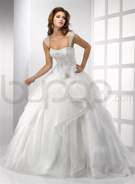 beautiful ball gown wedding dresses designed with cap