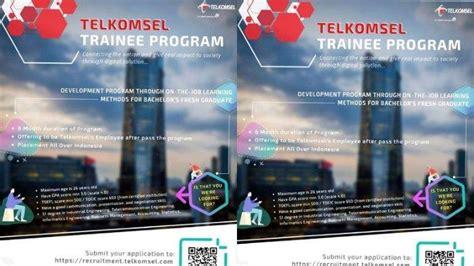 lowongan kerja bumn telkomsel trainee program  fresh graduate
