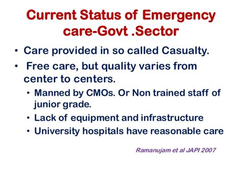 Lu Emergency Cmos changing the of primary care in india
