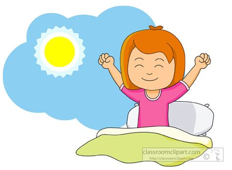 get clipart children clipart waking up and in the