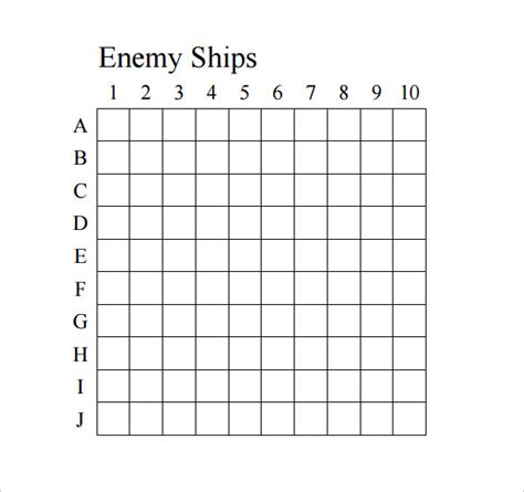 Sle Battleship Game 8 Documents In Pdf Battleship Template
