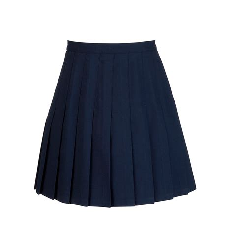 navy blue pleated skirt redskirtz