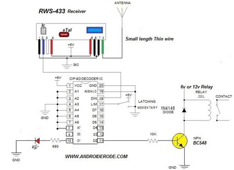 rf receiver inductor how to test 433 mhz rf receiver circuit with pin details