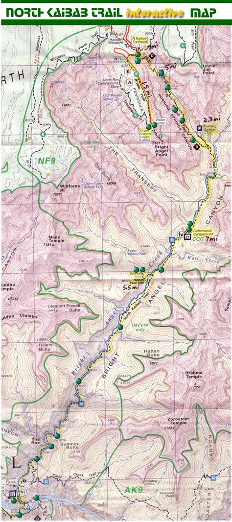 grand map south grand map south kaibab trail 28 images a hike in the