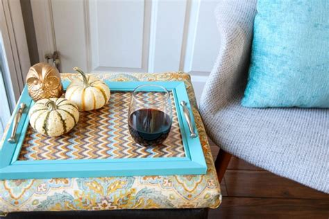 how to make an ottoman tray how to make an ottoman tray diy wrap around ottoman tray