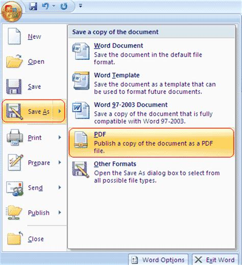 save visio 2003 as pdf convert document microsoft office 2007 ke pdf menggunakan