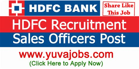 Hdfc Bank Openings For Mba Freshers by Hdfc Bank Recruitment 2018 Freshers Apply In Hdfc