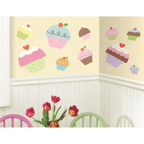 large nursery wall stickers new large cupcakes wall stickers bedroom baby nursery or kitchen decals ebay