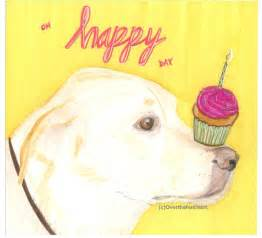birthday greeting card labrador card handmade card illustration pet portrait