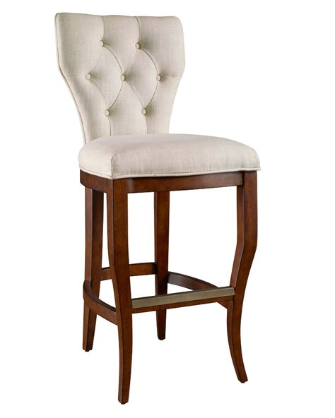 bar stools heights bowen quot ready to ship quot tufted back bar counter height