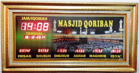 Jadwal Sholat Abadi Murah Berkualitas 145x65cm jam waktu sholat archives pusat jam digital masjid murah bergaransi