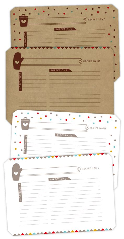 deorative recipe card template imprimibles de navidad parte ii