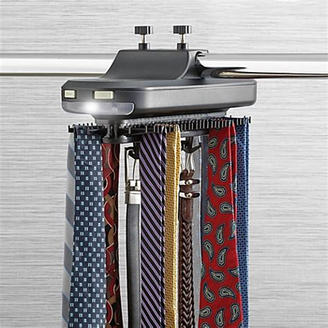 buy revolving tie rack from bed bath beyond