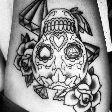 sugar skull thigh tattoos sugar skull thigh i ve always wanted but