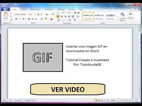 agregar imagenes a un pdf como insertar una imagen gif en movimiento en word youtube
