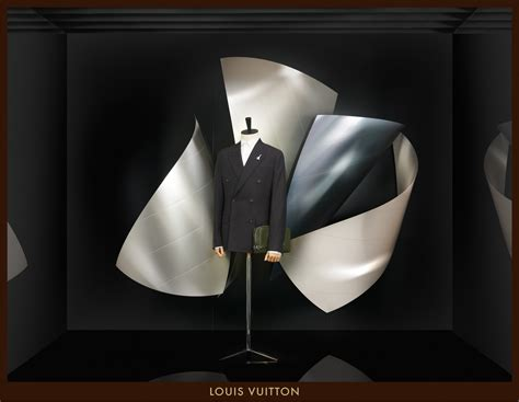 louis vuitton window displays designed by frank gehry