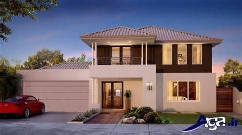 cheap 2 story houses نمای ساختمان دو طبقه با طراحی مدرن و کلاسیک