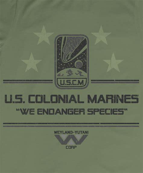 uscm colonial marine tshirt  hoodie  endanger species