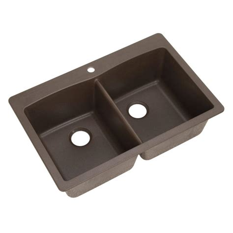 Dual Kitchen Sink Blanco Dual Mount Composite 33 In 1 Bowl Kitchen Sink In Anthracite 440220