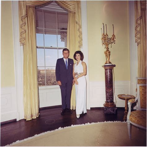 first white house file president and first lady portrait photograph president kennedy mrs kennedy